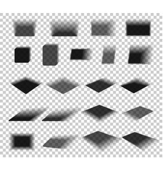 box and paper shadow with soft edges isolated on vector image vector image