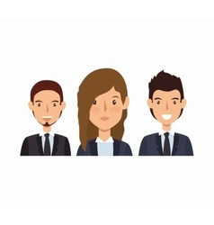 Business people avatars group vector
