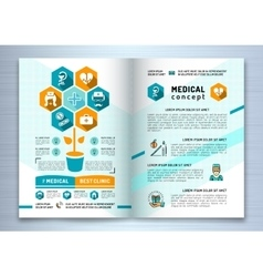 Design medical brochure template A4 size Catalog vector image vector image