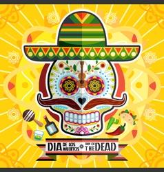 Dia De Los Muertos Day Of The Dead Skull vector image
