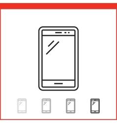 icon of smartphone vector image