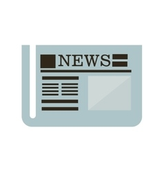 news newspaper icon design vector image