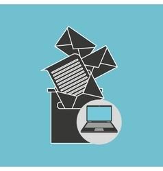 notebook computer messaging marketing vector image