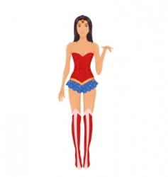 Superhero costume vector