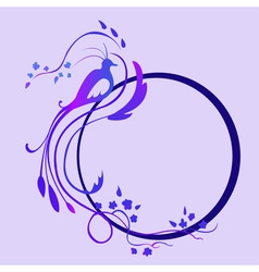 vector illustraition of funky abstract floral bord vector image vector image