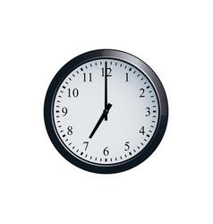 wall clock set at 7 o clock vector image