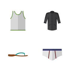 flat icon clothes set of beach sandal uniform vector image vector image