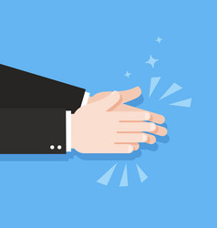 human hands clapping applause clap vector image