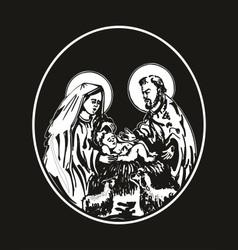 nativity of Jesus vector image