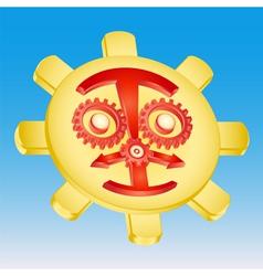 sun gear mechanism vector image