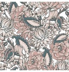 Vintage floral baroque seamless pattern vector image