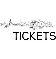 where to find concert tickets and other event vector image