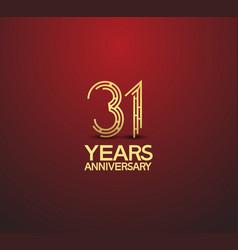 31 years golden anniversary logotype vector