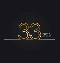 33 years anniversary vector