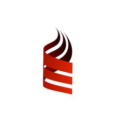 abstract three swoosh unique simple logo vector image