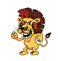 Angry cartoon lion vector