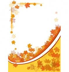 autumn background maple leafs vector image