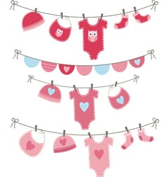 Baby Girl Shower Collections vector