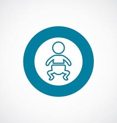 Baby icon bold blue circle border vector