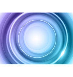 background blue light center big vector image