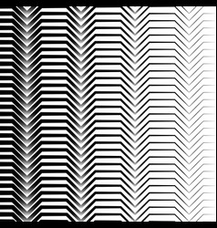 Black and white horizontal zigzag lines abstract vector