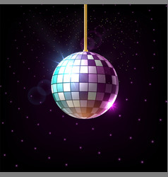 blue-violet mirror disco ball vector image