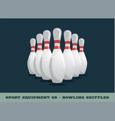 bowling skittles icon game equipment professional vector image
