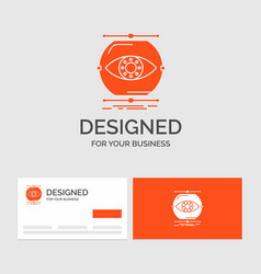 Business logo template for visualize conception vector