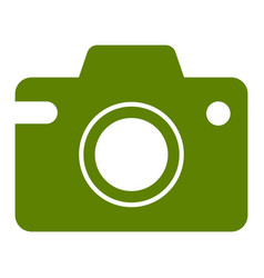 camera icon simple design vector image