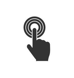 click icon flat vector image