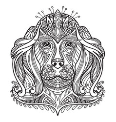 coloring dog vector image