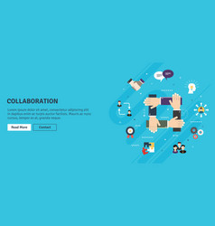 cooperation and collaborationteamwork strategy in vector image