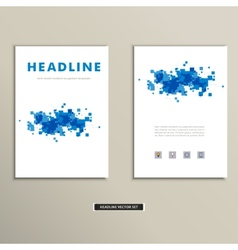 cover book with colorful abstract spots vector image