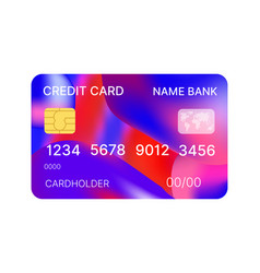 Credit cards multicolor template vector