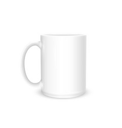 cup photo realistic white isolated on white vector image