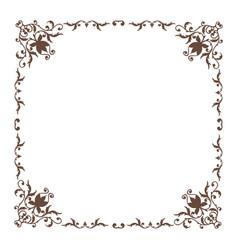 decorative square frame vintage style vector image