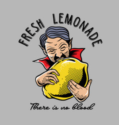 dracula biting lemon vector image