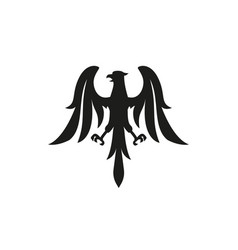 eagle symbol logo or tattoo concept vector image