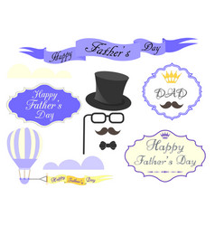elements for greeting cards and posters happy vector image