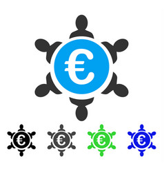 Euro collaboration flat icon vector