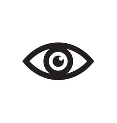 eye - black icon on white background vector image