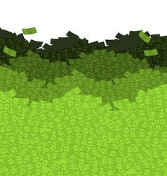 Financial waves Ocean money Sea of cash Mount vector image
