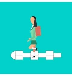 Flat icon on stylish background School girl vector