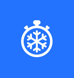 Freezing time icon with timer vector