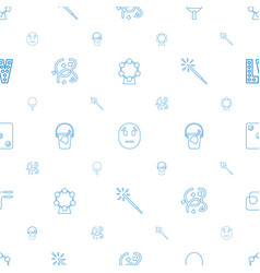 fun icons pattern seamless white background vector image