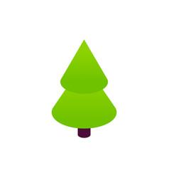 green christmas tree isometric object vector image