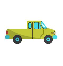 green pickup icon flat design vector image