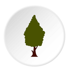 green tree icon circle vector image