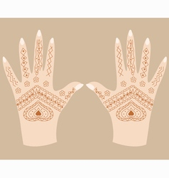 Hands with henna vector