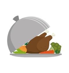 Healthy food menu icon vector